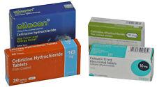 10mg Cetirizine hay fever, Allergy Relief (6 x 30 = 180) Antihistamine Tablets