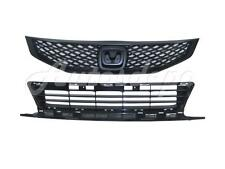 FOR 2009-2010 HONDA CIVIC COUPE GRILLE FRONT BUMPER LOWER GRILLE CENTER 2PCS