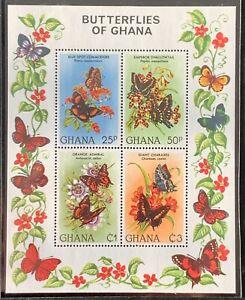 Ghana. Butterflies of Ghana Mini Sheet. MNH. #LC361