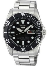 SEIKO SNZF17K1,Men's Sport,Automatic,Stainless steel,Rotating Bezel,date,100m WR
