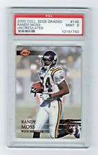 2000 Collectors Edge Uncirculated Randy Moss Minnesota Vikings #145 PSA Mint 9