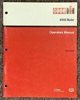 CASE-IH 8550 Baler Operators Manual Rac 9-13400, 1987. ORIGINAL