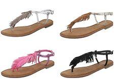 Damen-Sandalen & -Badeschuhe im Zehentrenner-Stil für Kleiner Absatz (Kleiner als 3 cm) und Freizeit