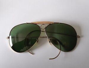 Ray Ban aviator B&L vintage sunglasses outdoorsman shooter 1960 1/3010KGO