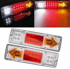 19 LED Tail Light Car Truck Trailer Stop Rear Reverse Turn Indicator Lamps Parts