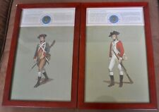 Pair of Revolutionary War Soldiers with Reprod. Uniform Buttons Framed Prints #4