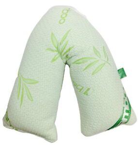 V Shaped Pillow Memory Foam Orthopedic Back Neck Support Christmas Gift Mum dad
