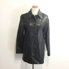 Crazy Horse Womens Sz S Black Leather Coat Soft Supple Leather Comfortable SMALL