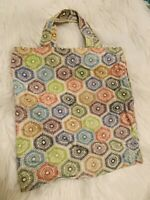 Canvas A4 Tote Bag Colourful Design Strong