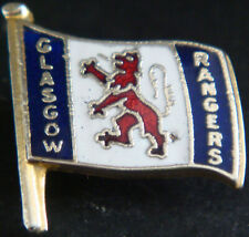 More details for rangers fc vintage club crest type badge brooch pin in gilt 21mm x 22mm
