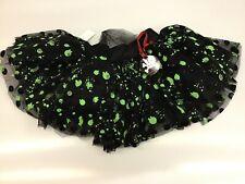 Hell Bunny BLACK GREEN LOWE TUTU NWT New Lolita Rockabilly SHORT TuTu Goth SZ M
