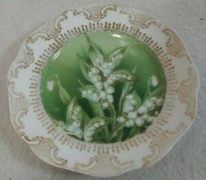 Vintage RC Bavaria Chrysantheme Porcelain Scalloped Hand Painted Dessert Plate