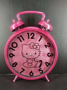 Hello Kitty Twin Bell Pink Jumbo Alarm Clock ~ Wall Hanging or Table Desktop
