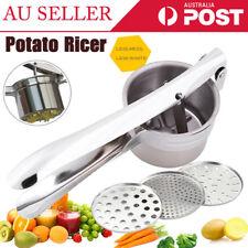 Kitchen Food Potato Ricer Masher Fruit Juicer Press Stainless Steel Mash Tool AU