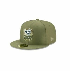 Official 2019 Los Angeles Rams New Era NFL Salute Service 59FIFTY Fitted Hat NWT