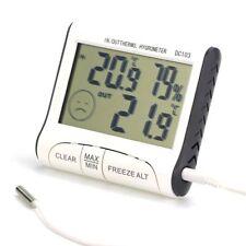 Digital LCD Thermometer Humidity Meter Kitchen Indoor Outdoor Temp Hygrometer UK