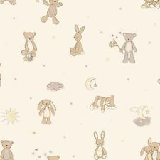 Childrens Teddy Bunny. Arthouse Bear Hugs Neutral Wallpaper 667401