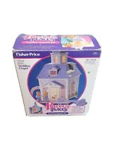 """Precious Places """"Silver Bells Wedding Chapel"""" Church 1988 Fisher Price Complete"""