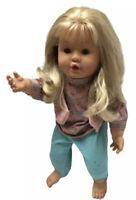 """FEBER Doll Made in Spain Blonde Hair Blue Eyes 1992 Poseable 18"""" Feber New York"""