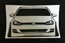 Volkswagen Golf 7 R GTI Sticker Coilover Lowering Camber Wide Bodykit Style