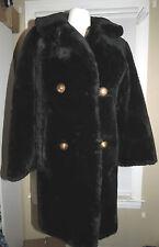 Black Faux Fur Classic Coat Vintage M or L