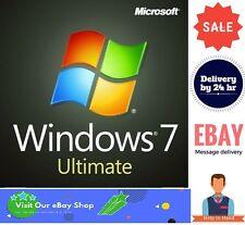 Windows 7 Ultimate 32/64 Bits Clé de licence ferraille PC/Ordinateur Portable Dell/HP