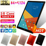 "10.1"" Android HD Tablet PC 6+128G/256G/512G 4G Wifi Octa-Core Dual SIM Phablet"