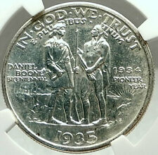 DANIEL BOONE Bicentennial US Silver Commemorative Half Dollar Coin NGC i75986