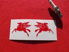 Pair of  Mobil oil Pegasus helmet stickers