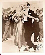 Autographed Photo Fred Astaire Ginger Rogers ORIGINAL Astaire Signature
