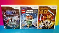 3 Star Wars Games: LEGO III Clone Wars, Lightsabre, Republic Heroes Nintendo Wii