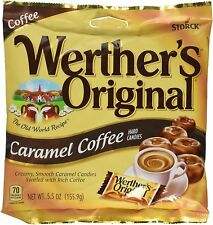 NEW STORCK WERTHER'S ORIGINAL CARAMEL COFFEE HARD CANDIES 5.5 OZ BAG FREE SHIPPI