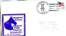 1978 FIRST FLIGHT ALLEGHENY AIRLINES FROM HOUSTON TO LOUISVILLE ON SEPT 15, 1978