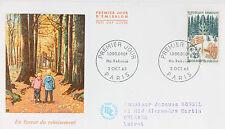 ENVELOPPE PREMIER JOUR - 9 x 16,5 cm - ANNEE 1965 - LE REBOISEMENT