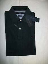 New Tommy Hilfiger Short Sleeve NAVY Wicking Cotton Polo Shirt Size M $59.99