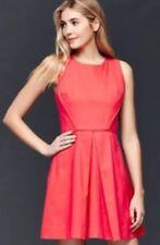 f1deed7ba1 Gap Women s Linen Fit N Flare Sleeveless Dress Rose Bush Sz 10 Tall