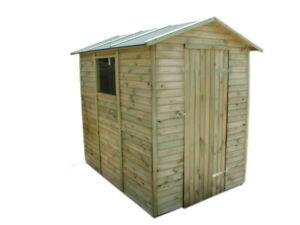 Arnara - Casetta da giardino per gli attrezzi in legno di pino impregnato.