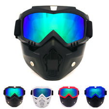Tactical Army Airsoft Paintball Face Mask with Detachable Goggles UV400 Eyewear