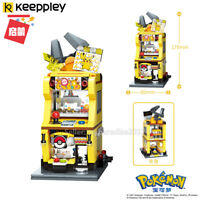 Enlighten Building Blocks Pokemon City Street View Pikachu Fit Minifigures