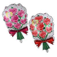 "25"" Flower ROSE Balloons Love Valentines Flower Birthday Party Aluminum Balloon"