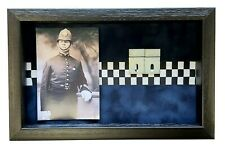 More details for large police medal display case with photograph for 4 medals.