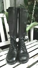 Vintage Ww Ii Us Army 3 Buckle Black Leather Tall Riding Boots Men Size 9C