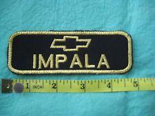 """Chevrolet Impala Service Jacket Gold  Patch 4 5/8""""X1 5/8"""""""