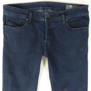 Mens Diesel TROXER R8KE4 Stretch Slim Skinny Blue Jeans W34 L32