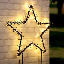 LED Solarstecker Stern Weihnachten Deko Gartenstecker warmweiße LEDs