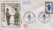 FRANCE FDC - 639 1549 1 JOURNEE DU TIMBRE - PARIS 16 Mars 1968