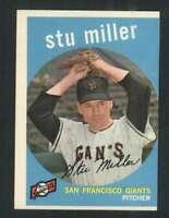 1959 Topps #183 Stu Miller EX/EX+ Giants 72371