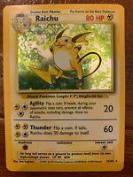 Raichu 14/102 - Holo Rare - Base Set - Vintage WotC Pokemon Card - NM