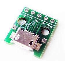 10pcs Female Micro Usb to Dip 5-Pin Pinboard 2.54mm micro Usb type M93