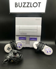 Super Nintendo SNES System Console Working Original 2 Controllers Missing 1 Cord
